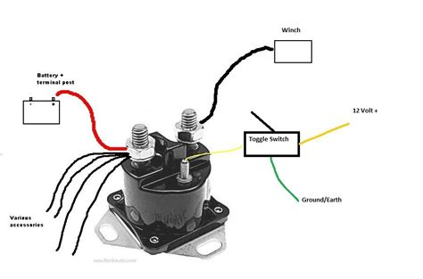 4 best images of solenoid switch diagram atv winch