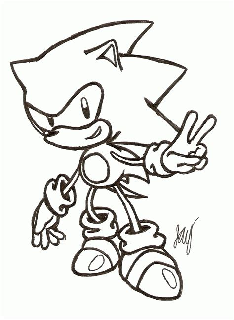 Classic Sonic Coloring Pages