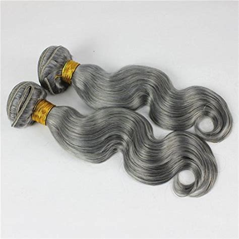 body wave on gray hair 18 dark grey weave body wave weft remy human hair extensions