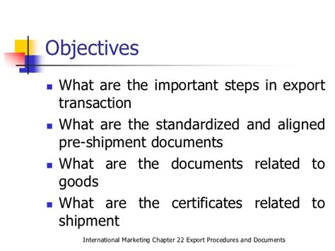Export Import Procedures And Documentation Mba Notes by Export Procedures And Documents