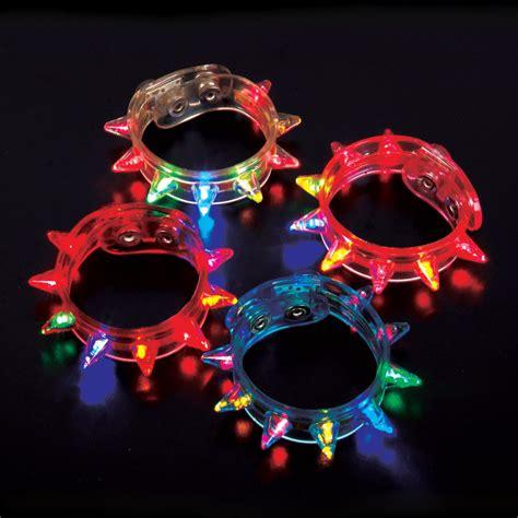 Led Party Rave Blinking Flashing Light Spike Bracelet Ebay Blinking Lights