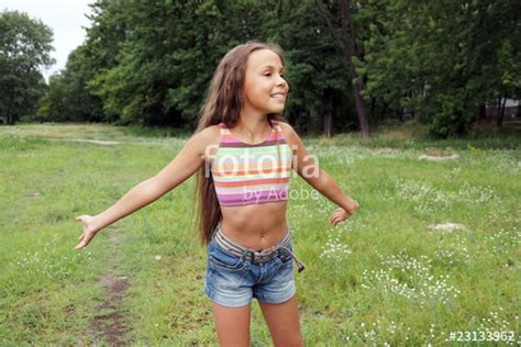 Running Preteen Girl Stock Photo And Royalty Free Images