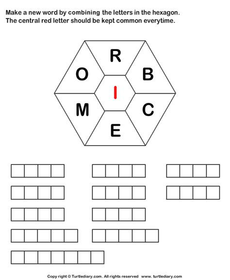 4 Letter Words Made From Empty make words using letters r b c e m o i worksheet turtle