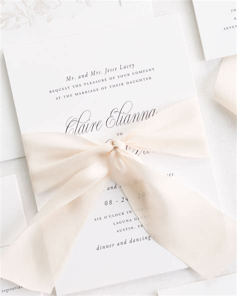 Wedding Invitations With Ribbon by Garden Elegance Ribbon Wedding Invitations Ribbon