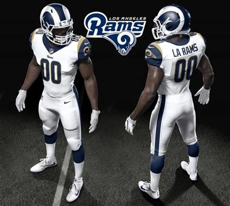 la rams football los angeles rams unveil new uniforms for 2017 season nbc