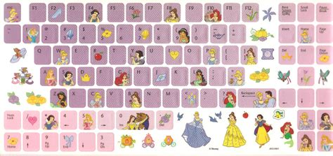 free printable keyboard stickers 1 day giveaway disney princess keyboard stickers