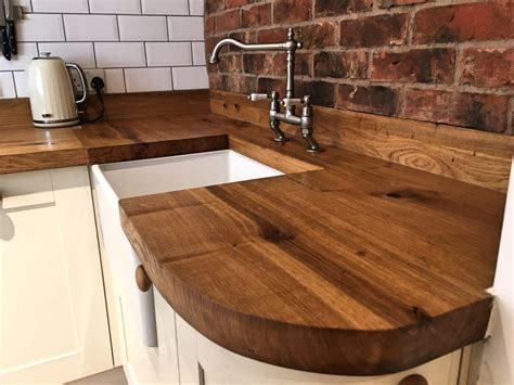 rustic oak kitchen worktops timberdeal uk