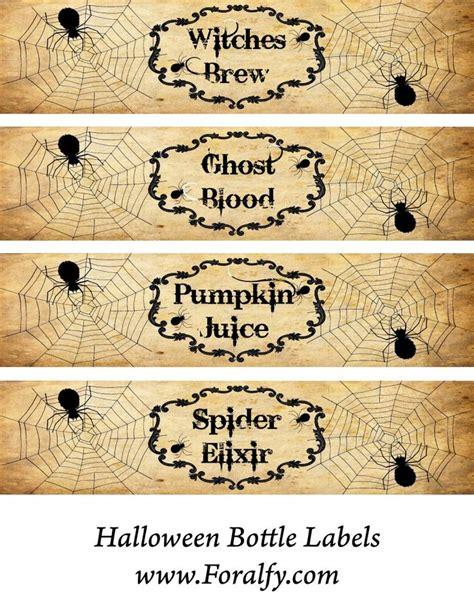 printable halloween labels for bottles printable halloween bottle labels halloween pinterest
