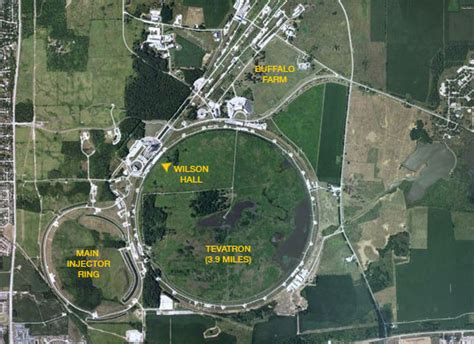 fermilab s village houses and the large hadron collider map of fermilab