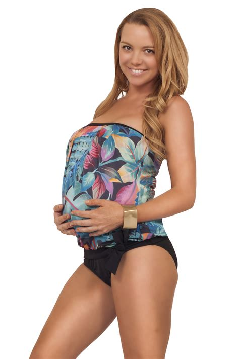Garden Formal Dresses - maternity comfortable swimsuit summer pregnant mommy two piece