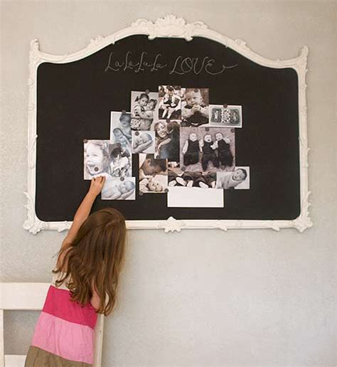 diy chalkboard painting diy project magnetic chalkboard mirror design sponge