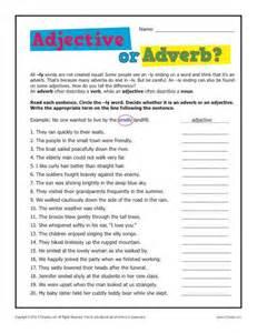 adjective worksheets grade 1