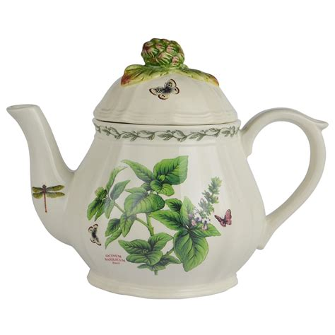 garden herb teapot by kaldun and bogle the teapot shoppe