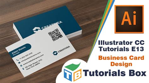 design id card in illustrator illustrator cc tutorials e13 business card design
