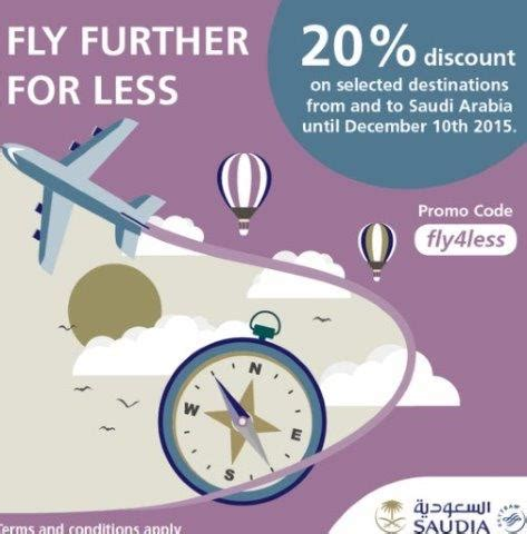 Promo Saudia by Saudia Promotion Code Up To 20 Discount On Selected Flights