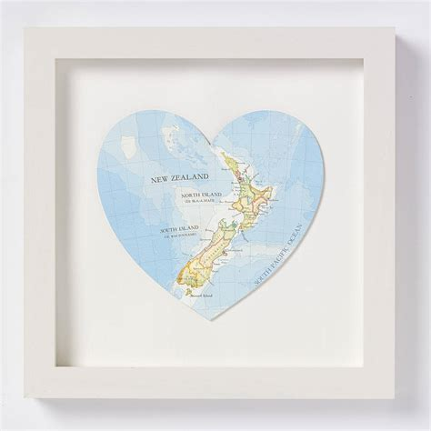 printable gift cards nz new zealand map heart print wedding gift by bombus off the