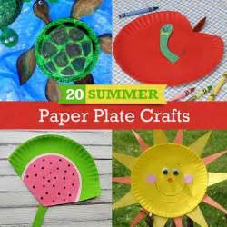 Kids Craft Summer - 20 summer crafts to make with paper plates