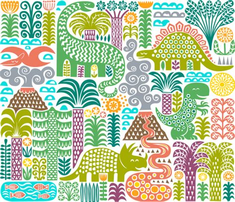 flower pattern history dinosaurs designs spoonflower design challenge