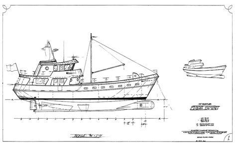boat drawing prints existing stock designs kasten marine design