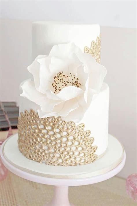 Hochzeitstorte Ivory by Wei 223 Elfenbein Hochzeit Goldspitze Auf Elfenbein