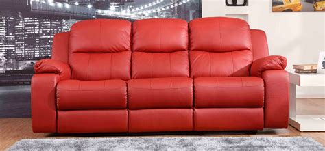 Montreal Rosso Red Reclining 3 2 Seater Leather Sofa Set Leather Sofa Montreal