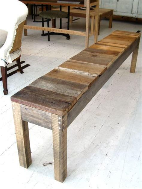 wood sitting bench make a bench out of old farm wood to keep in garage for