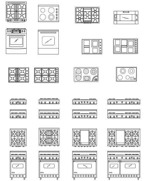 kitchen floor plan symbols appliances cad appliance blocks autocad appliance symbols kitchen
