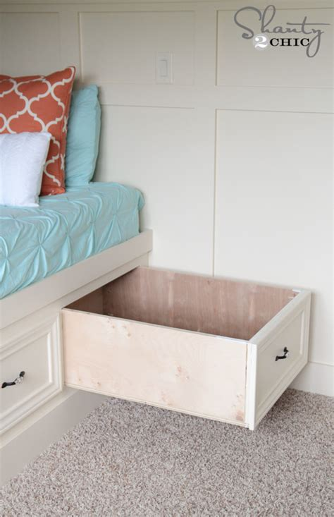 Diy Built In Drawers by Diy Built In Storage Bed Shanty 2 Chic