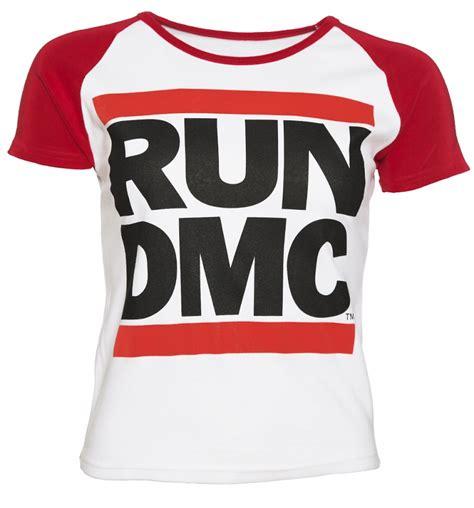 Tshirt Run Dmc Blue s white and run dmc logo baseball t shirt