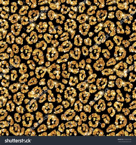 wallpaper gold print seamless gold leopard pattern vector illustration