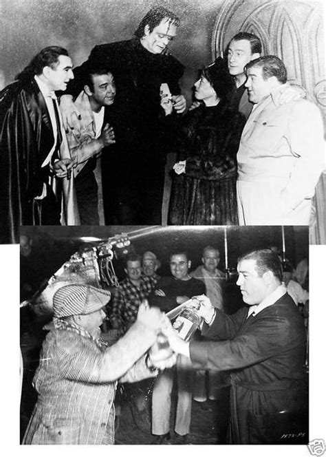 candid horror abbott costello meet frankenstein candid photos