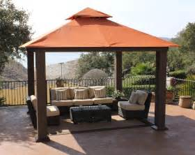 patio canopies and gazebos stc pergola 12x12 seville wicker square gazebo gz734
