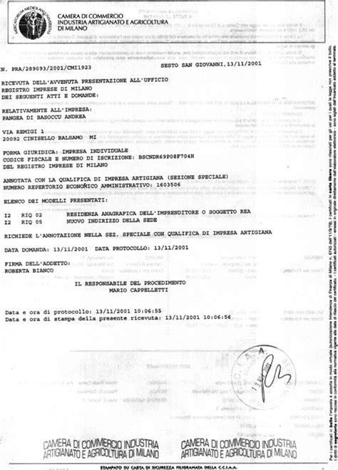 variazione sede legale pangea