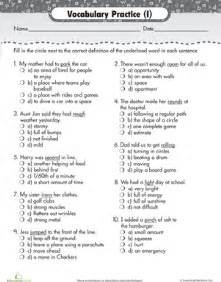 vocabulary practice choose the definition worksheet