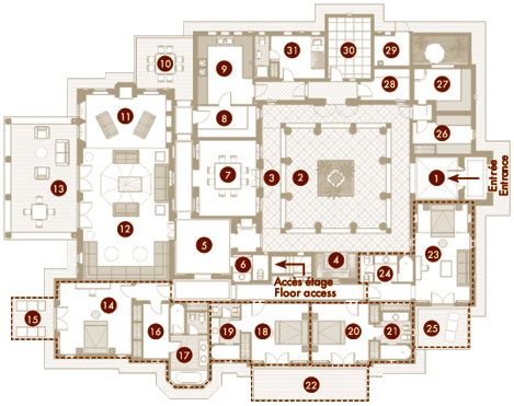 Floor House Plan by Villa Riad Camilia Villas Jennah R 233 Sidence 224 Marrakech
