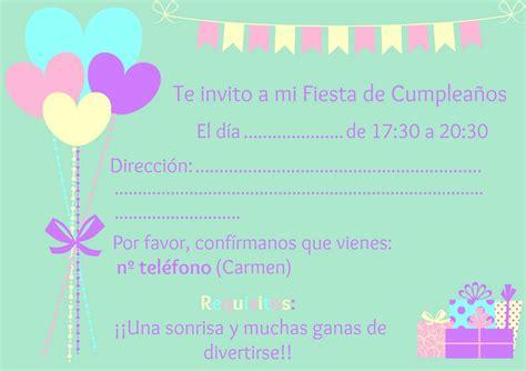 Imagenes De Invitaciones De Cumpleaños Bonitas | las cosillas de carmen invitaciones de cumplea 241 os