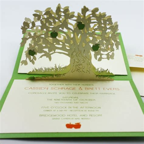 5 Awesome Wedding by 5 Amazing Pop Up Wedding Invitations