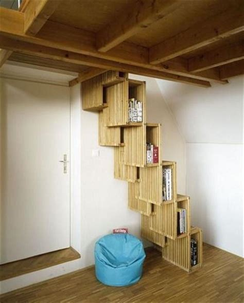 Small Staircase Ideas Tiny House Loft Stairs Book Covers