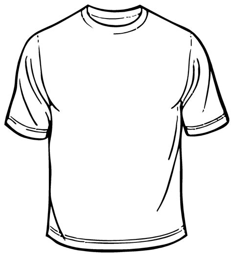 Blank T Shirt Coloring Sheet Printable T Shirt Design Template Pdf