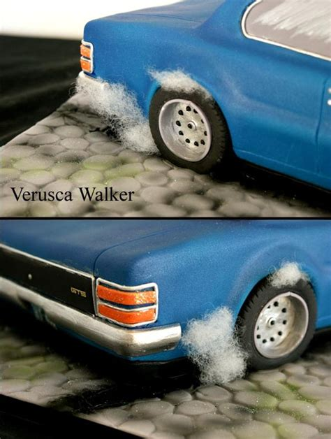 How To Make A 3d Car Out Of Paper - 3d car cake burning out by verusca on deviantart