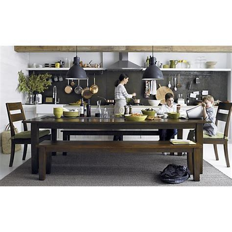 basque java 104 quot dining table crate and barrel crate