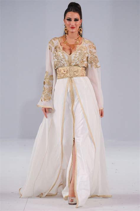Kaftan N Gold caftan blanc 2018 catalogue caftan marocain luxe