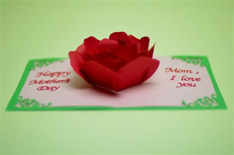 How To Make Pop Up Flowers Card In Paper - flower pop up card template
