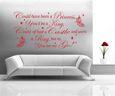 song lyric wall stickers coldplay rhianna princess of china song lyrics wall decal sticker wa0320 ebay