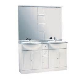 meuble de salle de bains blanc 140 cm rimini castorama