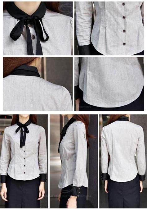 Dress Model Lengan Panjang Style Impor 1 office style color splicing slimming shirt for in black s sammydress