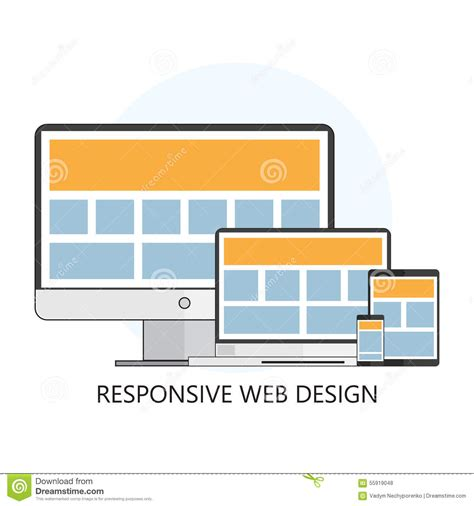 responsive design icon vector responsive web design icon stock vector image 55919048