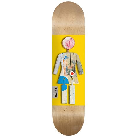 skate decks malto on exhibit 8 125 skateboard deck evo