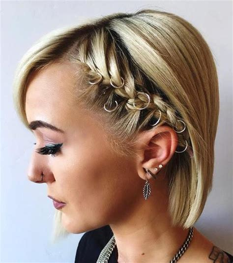 bob haircut with plait 40 hottest prom hairstyles for short hair