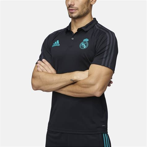 Kaos T Sirt Real Madrid shop black adidas real madrid polo t shirt for mens by adidas sss